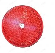 0V010330 Odrazka červená průměr 80 mm s dírou Auto Petr