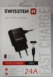 802307 Swissten nabíječka USB-C 230V/2,4A Auto Petr