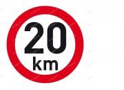 PUT20120 Samolepka Reflex. rychl. 20km, pr.200mm Auto Petr