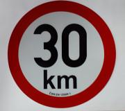 PUT20130 Samolepka reflexní rychlost 30 km, průměr 200 mm Auto Petr