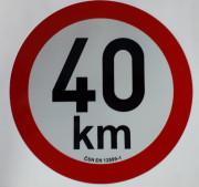 PUT20140 Samolepka reflexní rychlost 40 km, průměr 200 mm Auto Petr