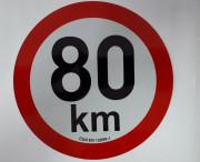 PUT20180 Samolepka reflexní rychlost 80 km, průměr 200 mm Auto Petr