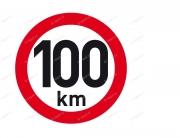 PUT21200 Samolepka Reflex. rychl. 100km, pr.200mm Auto Petr